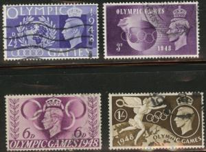 Great Britain Scott 271-4 used 1948 Olympic set