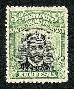 Rhodesia Admiral 5d Perf 14 M/M (hinger remainder)
