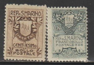 San Marino   SC  78-9  Mint  Hinged