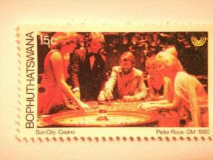 BOPHUTHATSWANA, 1980 15c MNH Tourism, Casino SG 66 value £ 0.45
