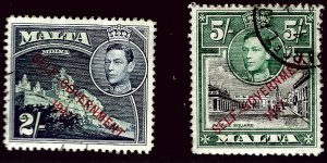 Malta SC#202, 204 Used VF...Fill a key Spot!!
