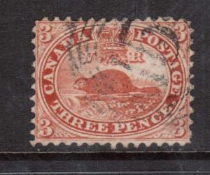Canada #12 VF Used With 4R15 Cancel **With Certificate**