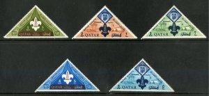 QATAR 53-7 MNH SHORT SET SCV $4.50 BIN $2.25 SCOUTS