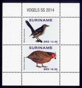 Suriname Sc# 1480 MNH Birds 2014 (S/S)