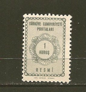 Turkey O89 Official Mint Hinged