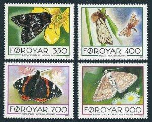 Faroe 256-259,MNH.Michel 252-255. Butterflies 1993.Apamea zeta,Hepialus humuli,