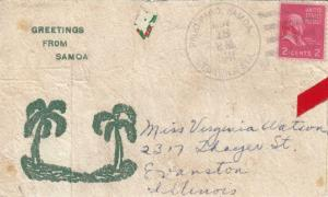 1941, Pago Pago, Samoa to Evanston, IL, Prexie (29546)
