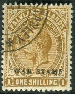BECHUANALAND-1918-20 1/- Bistre-Brown War Stamp. A fine used example Sg 72