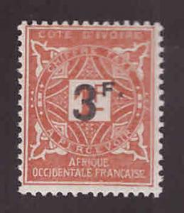 Ivory Coast Scott J18 MH* surcharged postage due stamp