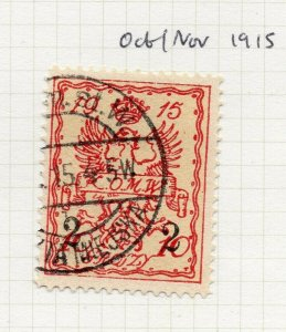 Poland Warsaw 1915 Early Issue Fine Used 2gr. Surcharged Postmark NW-14468