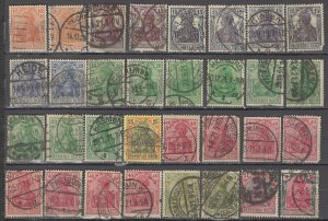COLLECTION LOT OF #1190 GERMANY 32 GERMANIA STAMPS 1902+ CLEARANCE CV = $66