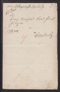 Austria 1825 SFL, script black KLATTAU postmark, embossed Austrian Coat of Arms