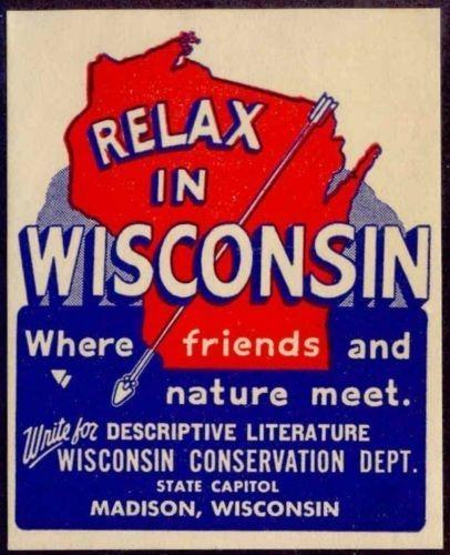US - elax in Wisconsin Poster Stamp