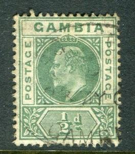 GAMBIA; 1904-06 early Ed VII issue fine used 1/2d. value