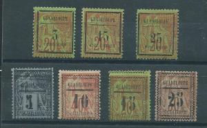 Guadeloupe 3-9 1889 set  MLH-Unused NO Gum see description