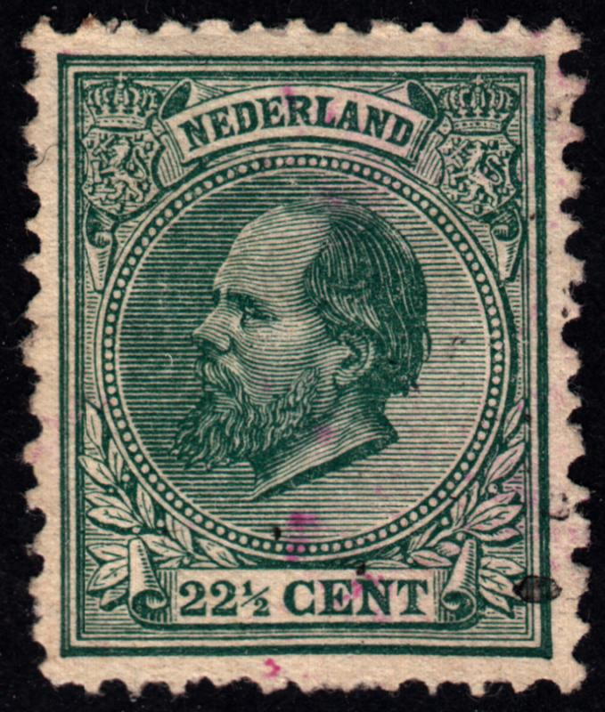 Netherlands 1888 King William 22.5 Catalog 50 Euro