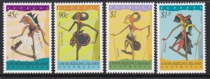293-96 Cocos Islands 1994 Puppets MNH