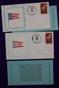 MAVEX Butler Institute American Art Ohio State Flag 1965 Philatelic Expo Cover