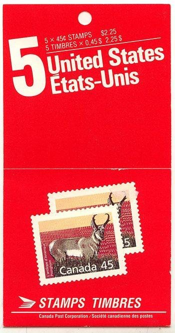 Canada - 1989 45c Proghorn Sheep Booklet #BK116