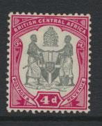 Nyasaland (British Central Africa) BCA SG 45 Mint Light Hinge