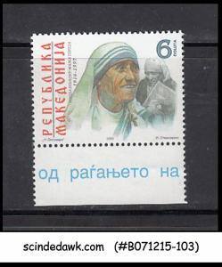 MACEDONIA - 2000 THE 90yrs OF BIRTH OF MOTHER TERESA - 1V - MINT NH