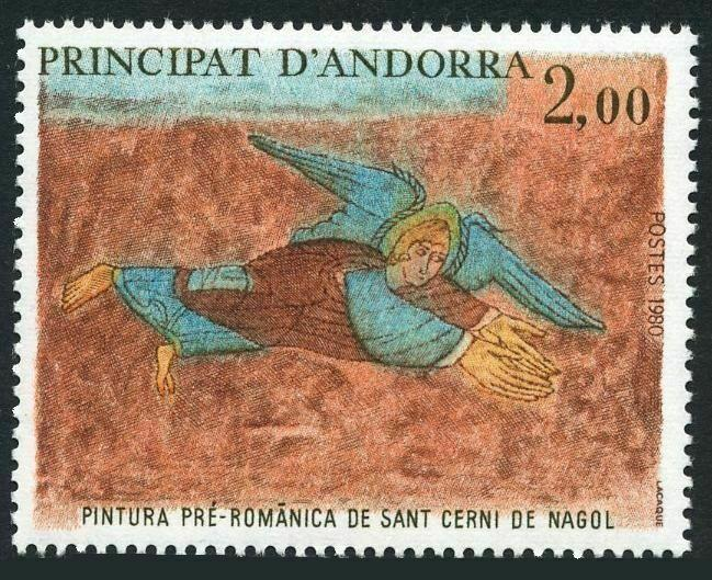 Andorra Fr 284,MNH.Michel 311. Angel,Church of St Cerni de Nagol.1980.