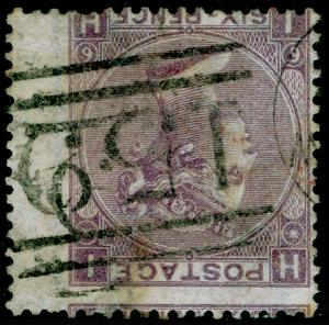 SG97Wi, 6d lilac plate 6, USED. Cat £250+. WMK INV. IH