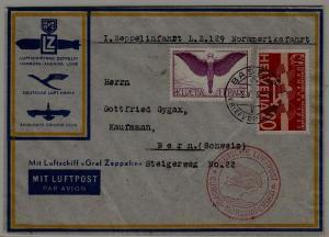 Switzerland/Germany Zeppelin cover 2.5.36