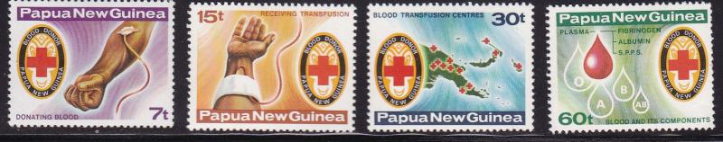 Papua New Guinea 1980 Red Cross Blood Donar VF/NH