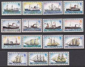 Falkland Islands Sc #260-274 Mint Hinged; Mi #255-269I