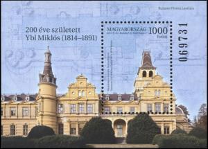 Hungary. 2014. Miklós Ybl, 1814-1891 (MNH OG) Souvenir Sheet