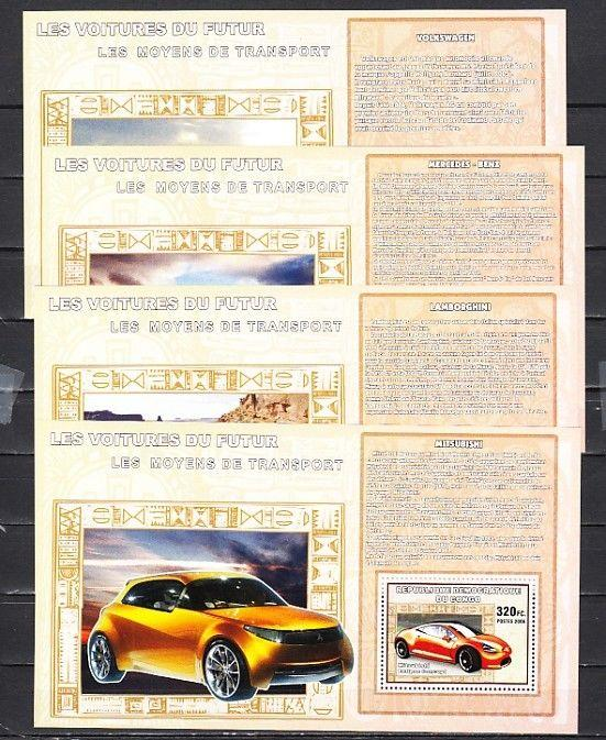 Congo, Dem., 2006 issue. Sport Cars on 4 s/sheets.