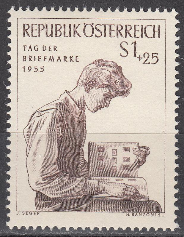 Austria - 1955 Stamp Collector - MLH  (9566)
