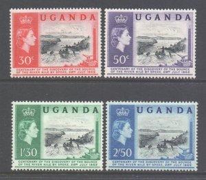 Uganda Scott 79/82 - SG95/98, 1962 Nile Discovery Set MH*