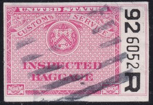 US STAMP BOB REVENUE STATE OF NEW YORK BAGGAGE INSPECITON STAMP ON PAPER