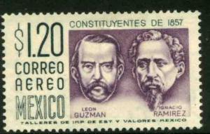 MEXICO C237 $1.20Pesos 1950 Definitive 2nd Printing wmk 300 MINT, NH. F-VF.
