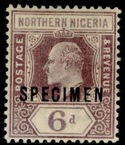 NORTHERN NIGERIA SG15s, 6d dull purple & violet, M MINT. SPECIMEN.