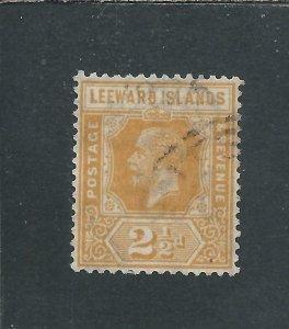 LEEWARD IS 1921-32 2½d ORANGE-YELLOW GU SG 66 CAT £75