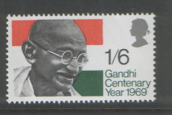 Great Britain 1969 Gandhi (1) Scott # 600