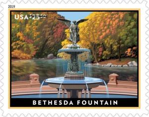 5348 Bethesda Fountain US Express Mail Single Mint/nh FREE SHIPPING