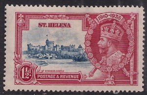 St Helena 1935 KGV 1 1/2d Blue & Carmine Silver Jubilee  MM SG 124 ( D1386 )