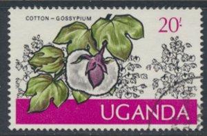 Uganda  SG 161  Used  1975  Cotton  SC# 145  See scan