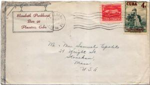 Cuba 1c Proposed Communications Building Postal Tax and 4c Fortifications, Ha...