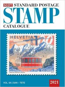 Scott Stamp Catalog 2021 Volume 6A & 6B - COUNTRIES SAN MARINO THRU Z  Book