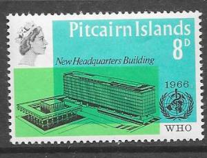 Pitcairn Islands #62 WHO New Headquaters  (MNH) CV$4.50