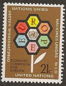 United Nations 231 New York Economic Commission for Europe 21c single MNH 1972