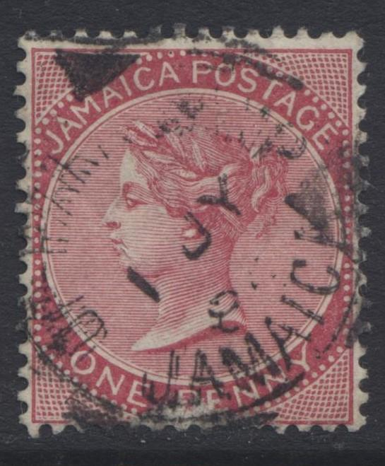 Jamacia - Scott 18 - Queen Victoria Head -1885 - U -  Single 1p  Stamp - Lot 1