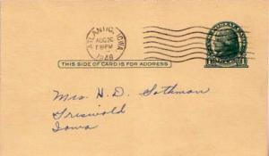 United States, Iowa, Government Postal Card
