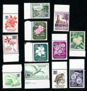 Norfolk Island Stamps # 71-82 VF OG NH