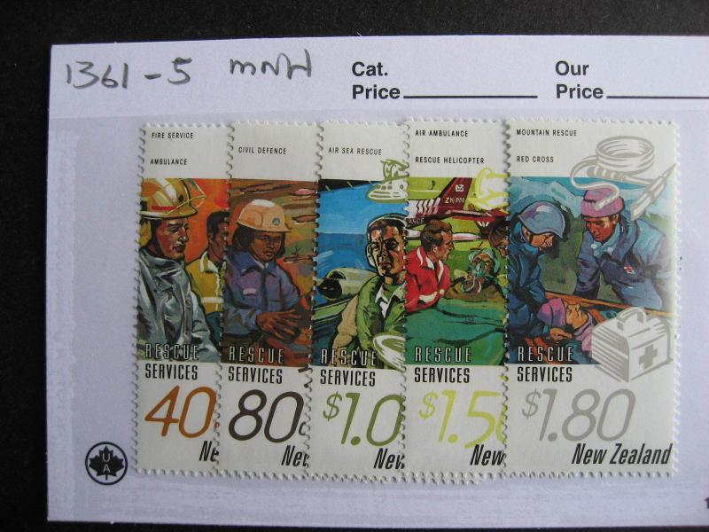 NEW ZEALAND rescue services set Sc 1361-5 MNH
